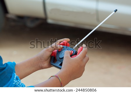 remote control for toy car - stock photo
