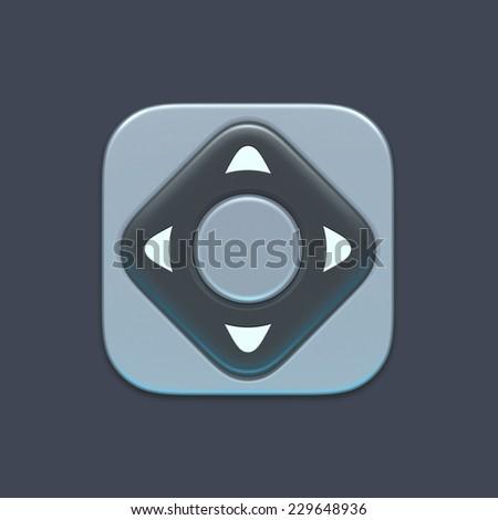 Remote control icon - stock photo