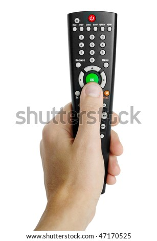 Remote control isolated - stock photo