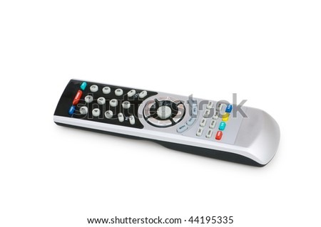 Remote control isolated on the white background - stock photo