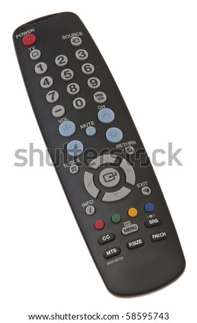 Remote Control Isolated on White with a Clipping Path. - stock photo