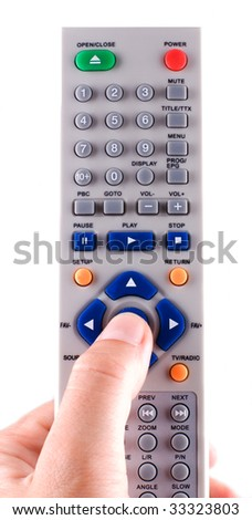 Remote control on a white background - stock photo