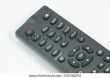 remote control  selective focus - stock photo
