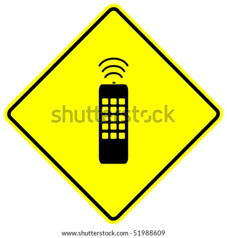 remote control sign - stock photo