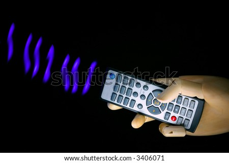 remote control transmitting - stock photo