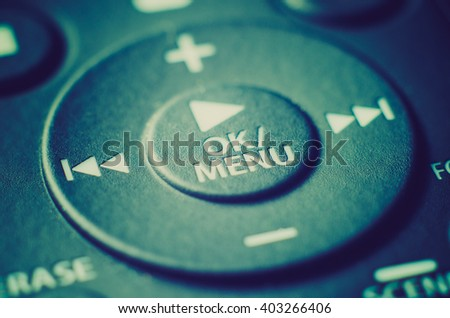 remote control with buttons macro - stock photo