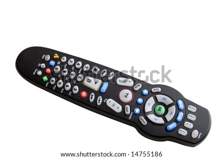 remote control with clipping path - stock photo