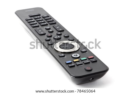 Remote controller isolated on a white background - stock photo