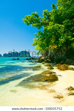 Remote Resort Hideaway Scene - stock photo