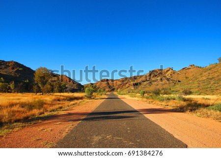 Remote road in Australian outback