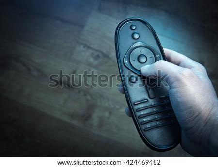 Remote TV - stock photo