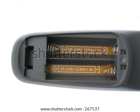 remote without batteries - stock photo