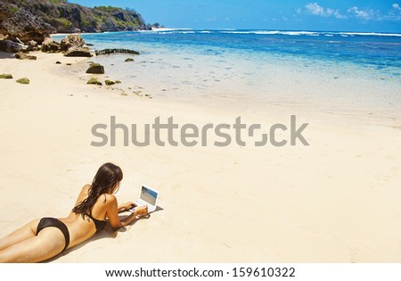 remote working concept - stock photo