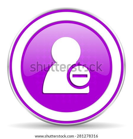 remove contact violet icon 