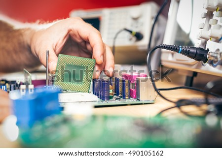 Remove CPU from main circuit board to check problem and repair