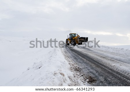 Removing Snow From Road
