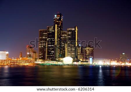 Renaissance Center, Detroit - stock photo