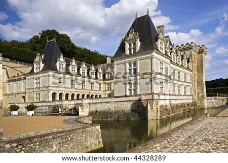 Renaissance Chateau de Valencay with fancy military decoration - stock photo