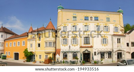 Renaissance houses in Mauthausen on the Danube