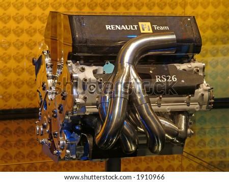 Renault F1 power engine - stock photo
