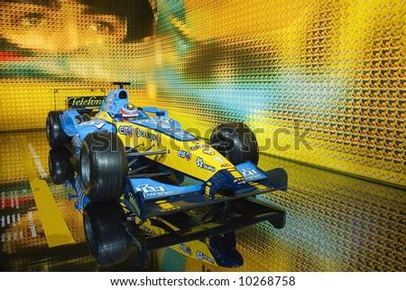 Renault Formula 1 car - stock photo