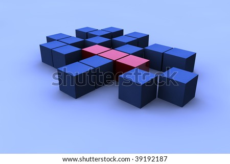 Render abstract square - stock photo