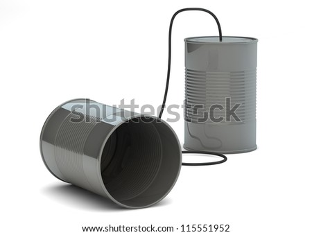 render of a cans phone - stock photo