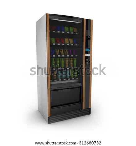 render of a isolated on white vending machine