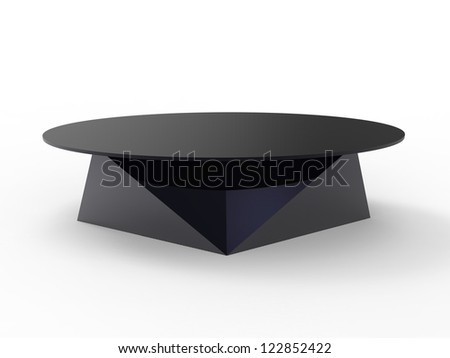 Render of a oragami style coffee table with a white background - stock photo
