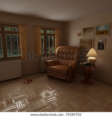 Render of a sitting room