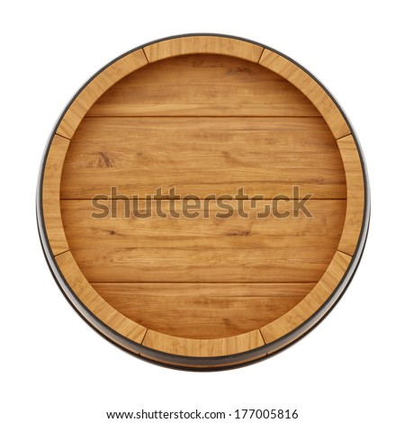 render of a wine barrel from top   isolated on white - stock photoWhiskey Barrel Drawing