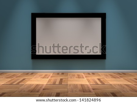 render of an empty frame on the wall
