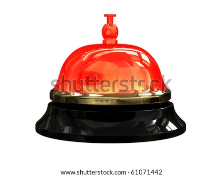 Render of burning hot reception bell - stock photo