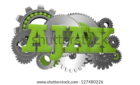 render of gears and the text ajax