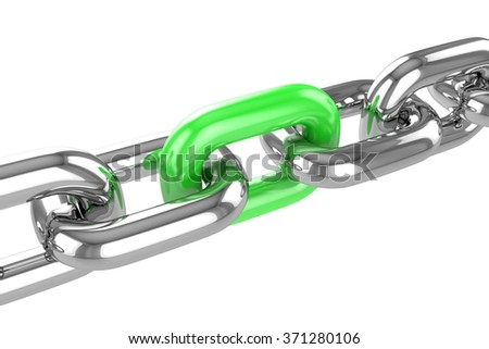 render stainless steel chain