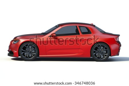 Rendering of a brand-less generic concept car in studio environment. No trademark issues as the car is my own design. The car does not exist in real life