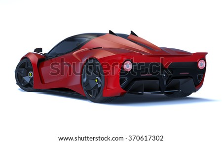 Rendering of a brand-less generic concept racing car in studio environment.