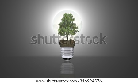renewable energy concept, green energy symbol
