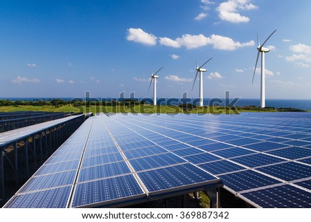 Renewable energy Eco image - stock photo