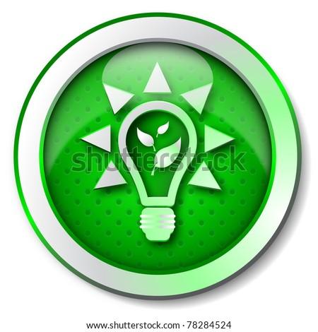 Renewable energy icon - stock photo