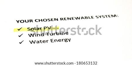 Renewable energy systems - Solar PV - stock photo