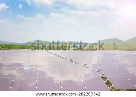 renewable solar energy Power plant   - stock photo