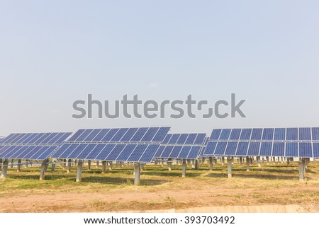 renewable solar energy Power plant : The concept of renewable energy. Clean energy Environmentally friendly The solar farm. - stock photo