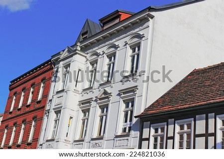 renovated house line - stock photo