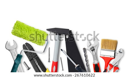 Renovation tools - stock photo