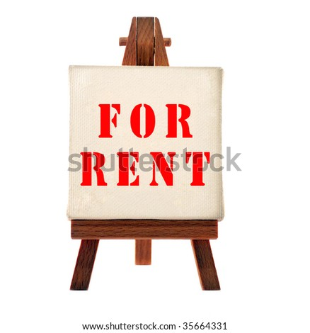 Rent board - stock photo