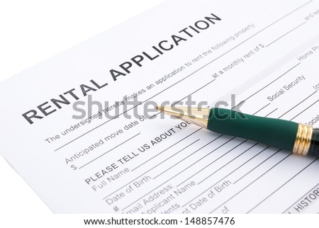 rental agreement close up