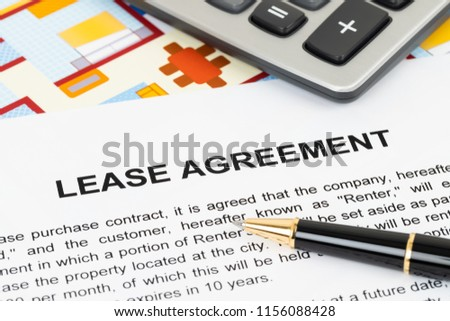 Rental Agreement Paperwork Document Mockup Stock Photo Edit Now