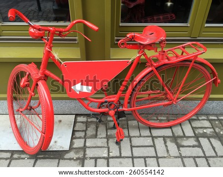 Rental bike in Wroclaw, Poland - stock photo