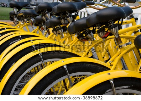 Rental Bikes - stock photo